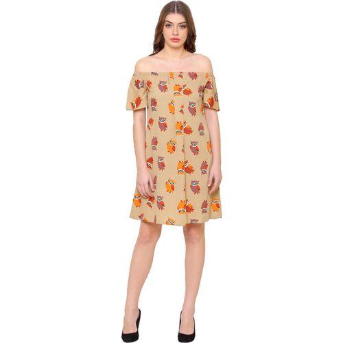 @499 Women Sheath Beige Dress