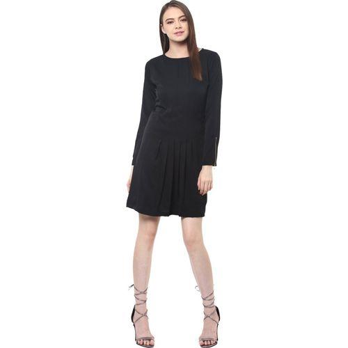 Miss Chase Women's Shift Black Dress