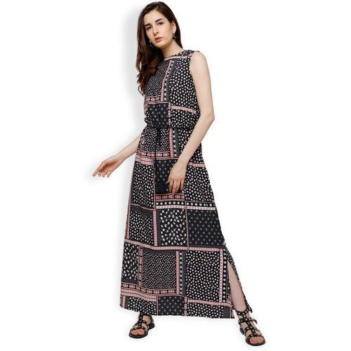 Tokyo Talkies Women's Maxi Black Dress