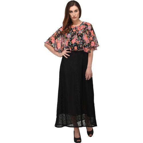 triraj Women Maxi Black Dress