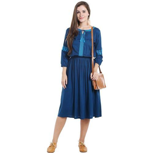 0a6d6a51e765fe Buy Ishin Women's A-line Blue Dress online | Looksgud.in
