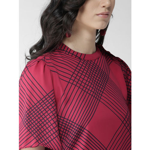 Style Quotient Women Pink & Black Checked Top
