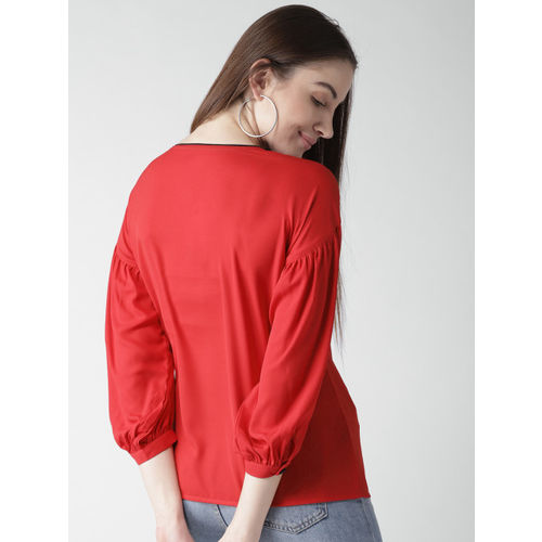 Style Quotient by noi Women Red Solid Top