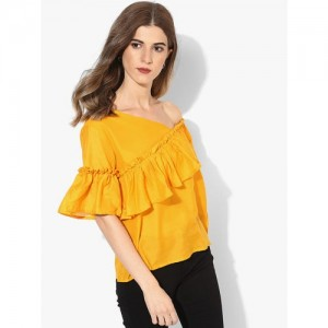 Mustard Yellow Solid Blouse