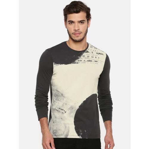 Being Human Clothing Men Grey & Cream-Coloured T-shirt