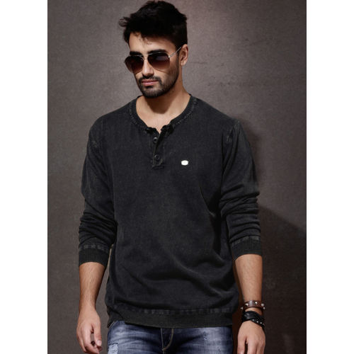 Roadster Black Henley Sweater