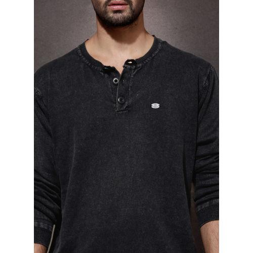 Roadster Black Henley Sweater