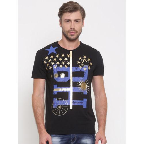 8c5d953f Buy Being Human Men Black Printed Round Neck T-shirt online ...