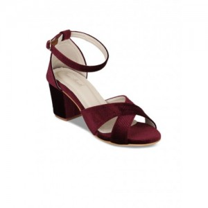 Bruno Manetti Maroon Woven Design Suede Sandals