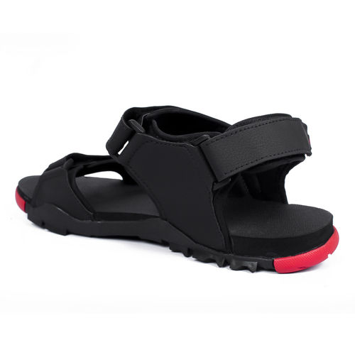 Asian Italic-03 Black Red Stylish Sandals For Men