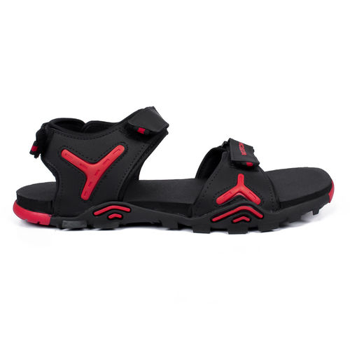 Asian Italic-03 Black Red Stylish Sandals For Men