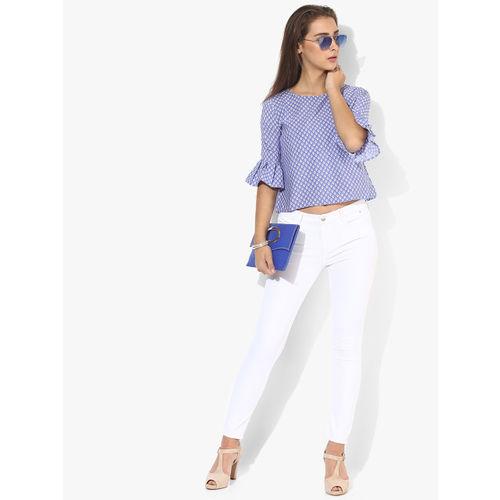 Style Quotient Blue Printed Blouse