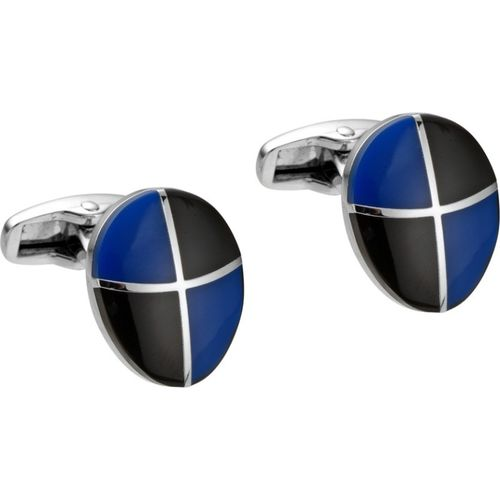 Alvaro Castagnino Metal Cufflink Set(Black, Blue)
