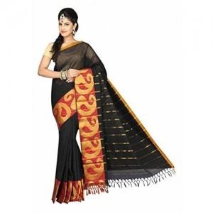 Pavecha's Pavecha'S Cotton Saree (Mk2407_Black)
