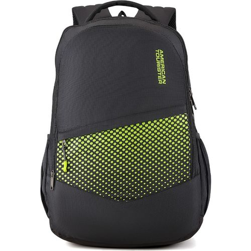 American Tourister Black & Green Mist Sch Bag 29.5 L Backpack
