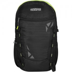 American Tourister Mambo 02 37 L Backpack(Black, Green)