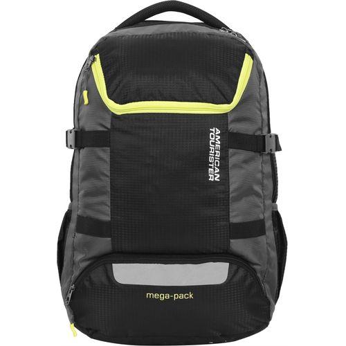 American Tourister Magna Weekender 02 40 L Laptop Backpack(Black, Grey)