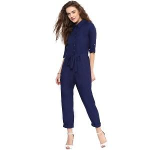 Uptownie Lite Navy Blue Polyester Jumpsuit