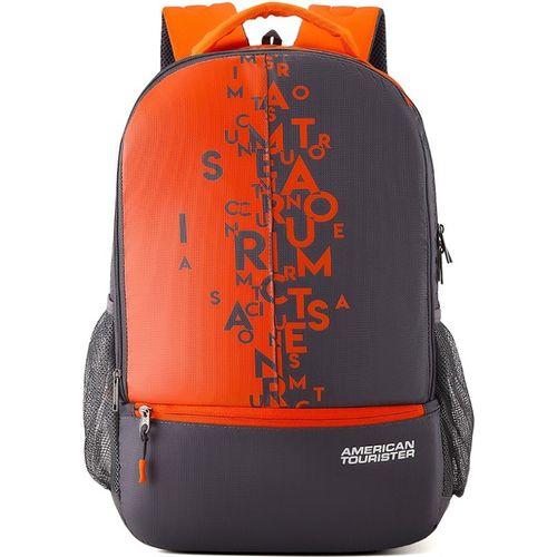 American Tourister Fizz Sch Bag 32 L Backpack(Grey, Orange)