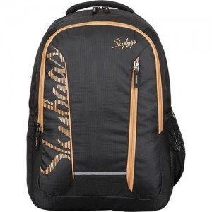 Skybags Footloose Router 4 Laptop Backpack Black 29 L Backpack(Black, Beige) c7c9feba81