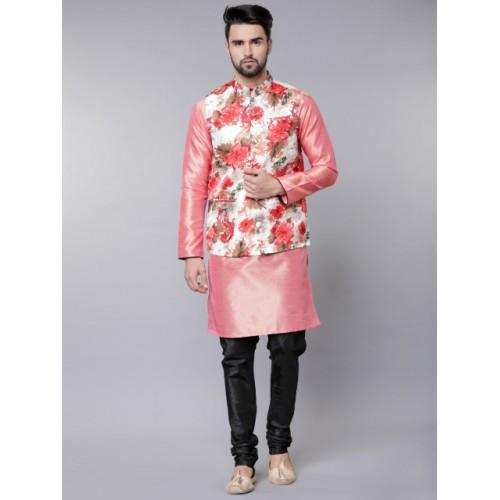 Svanik Men Multi Color Printed Slim Fit Nehru Jacket