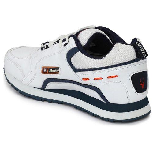 HIROLAS Men White Running Shoes