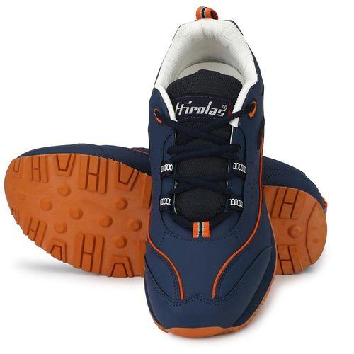 HIROLAS Men Navy Blue Running Shoes