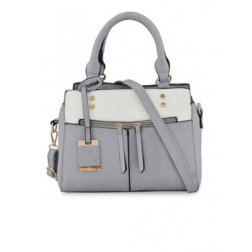 Mark & Keith Grey Polyurethane Solid Handheld Bag