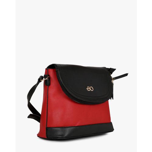 E2O Fashion Red & Black Polyurethane Sling Bag