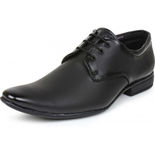BUWCH Men Black Formal Synthetic Leather Shoes
