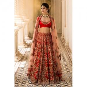 Un-Branded Generic Semi Stitched Nura Silk Designer Lehenga with Heavy Embroidery work, Nura silk Blouse Piece and Bridel net Dupatta