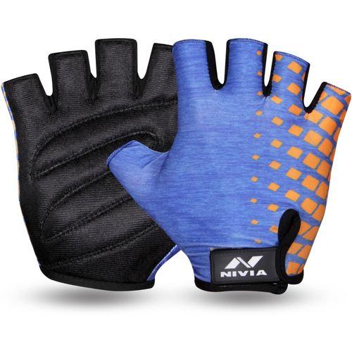 Nivia Topaz Gym & Fitness Gloves (L, Blue)