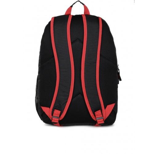 Fastrack Unisex Black polyester Solid Laptop Backpack