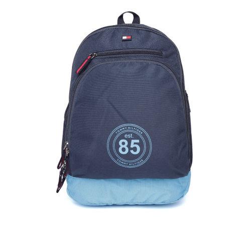 72cc8a48e74 Buy Tommy Hilfiger Unisex Navy Blue Solid Laptop Backpack online ...