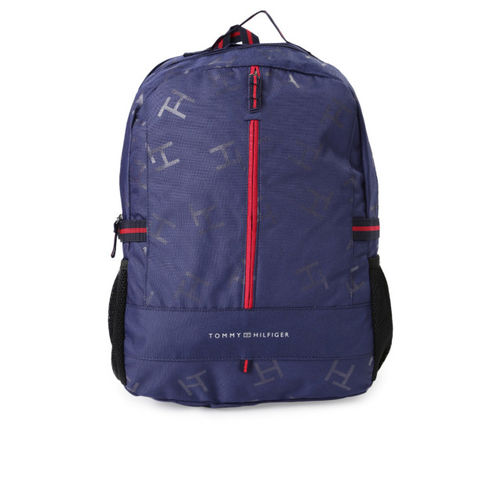 Tommy Hilfiger Unisex Navy & Black Printed Backpack