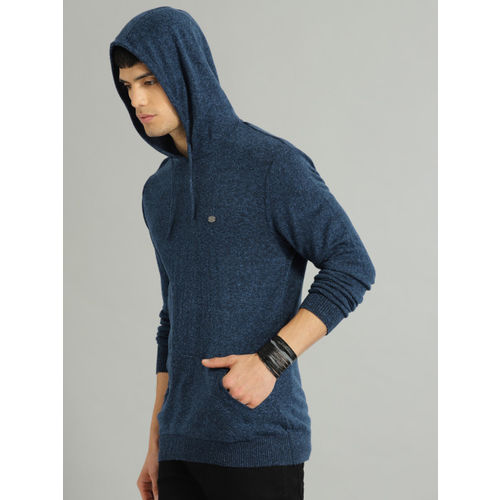 Roadster Men Navy Blue Solid Pullover