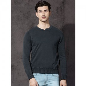 b6e23f26030 Buy Calvin Klein Jeans Blue Solid Round Neck Sweater online ...