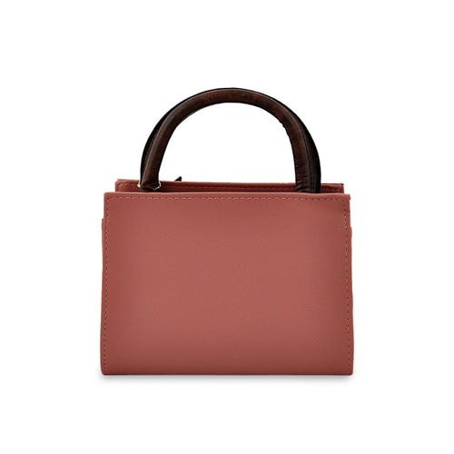 Mark & Keith Pink Polyurethane Solid Handheld Bag