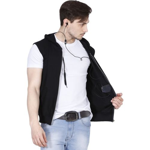 Fanideaz Sleeveless Solid Men's Jacket