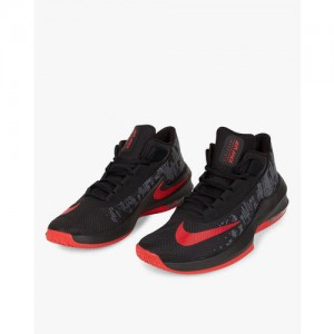 new product e64fd 0380f Nike Men Black Air Max Infuriate 2 Mid-Top Basketball Shoes