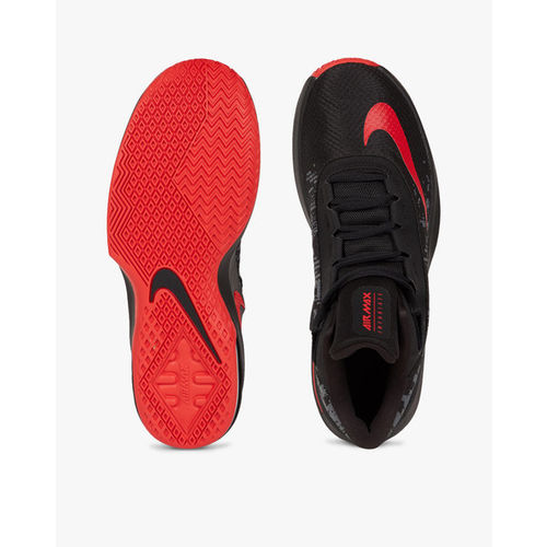 644640fc3961 Buy Nike Men Black Air Max Infuriate 2 Mid-Top Basketball Shoes ...