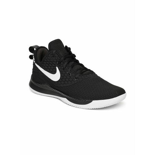 2276f9be3f6a Buy Nike Men Black Lebron Witness III Mid-Top Basketball Shoes ...