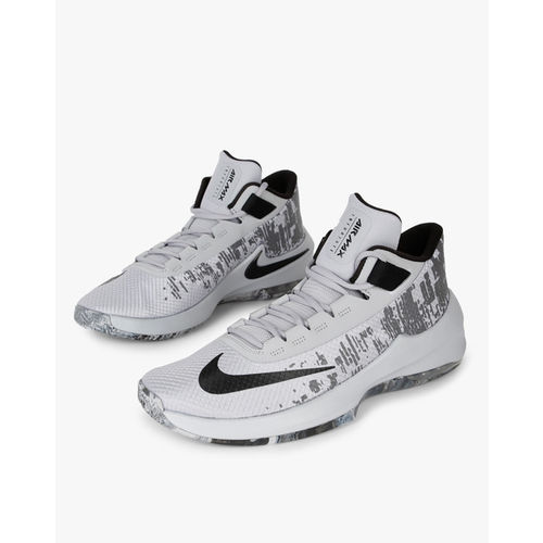 72401349b02 ... Nike Men Grey Solid Mesh Mid-Top AIR MAX INFURIATE 2 MID Basketball  Shoes ...