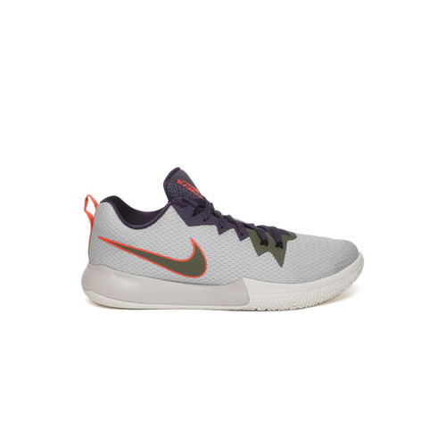 Buy Nike Men Grey   Navy Zoom Live II Basketball Shoes online ... 74a7fe73c1b