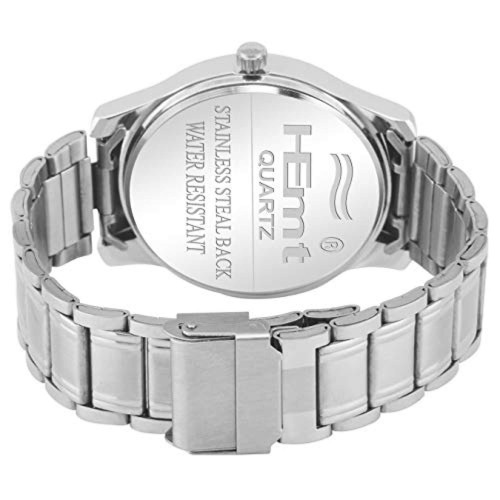 HEMT Analogue Silver Dial Men's Watch_HM-LR214-SLV-GLD
