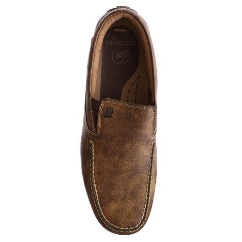 43bf61a7d5e42 Buy Lee Grain lee grain brown color branded leather loafer for men ...