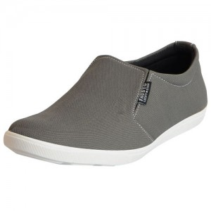 Fausto Men's Grey Canvas Loafers