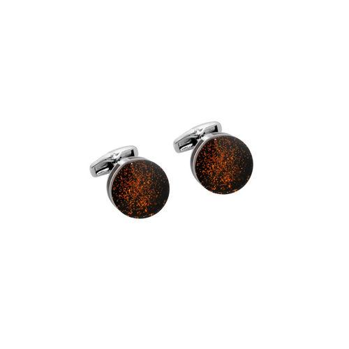 Alvaro Castagnino Black & Orange Cufflinks