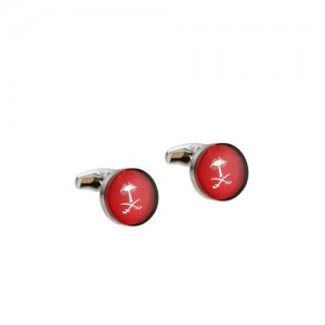 Alvaro Castagnino Red Printed Cufflinks