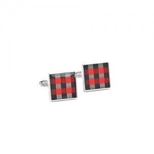 Alvaro Castagnino Red & Black Cufflinks